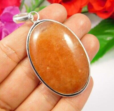 Cherry Quartz  .925 Silver Plated Handmade Designer Pendant Jewelry JC3750