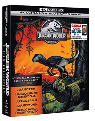 Movie-Jurassic 5 Movie Super Collection (5 Blu-Ray 4K Ultra Hd+Blu-R BLU-RAY NEW