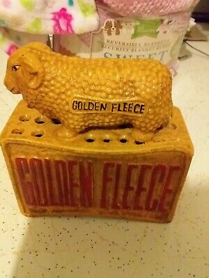 Golden fleece collectables Money Box Cast Iron Mid 1900s Free Post