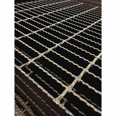 DIRECT METALS 20188R200-B4 Bar Grating,Serrated,24in.W x 2.0in.H