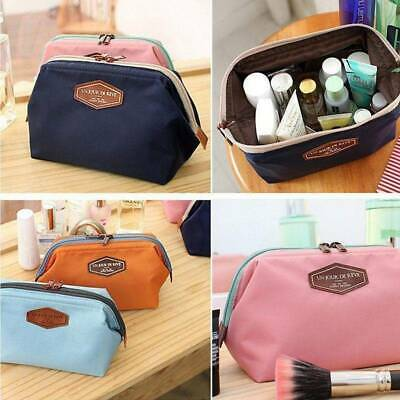 Women Travel Make Up Bag Zipper Purse Cosmetic Toiletry Case Pouch Large Storage
