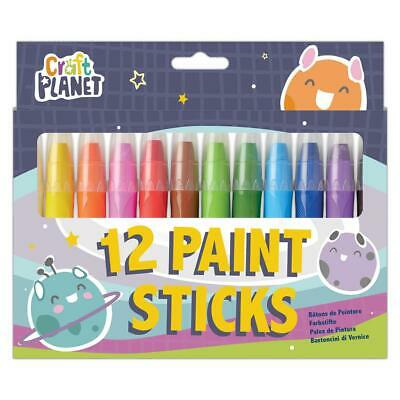 Craft Planet 12 Pack Bright Paint Sticks CPT 763013