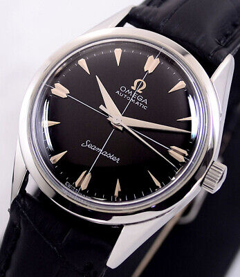 Vintage Omega Seamaster Automatic Cal471 Black Dial Dress Men's Watch