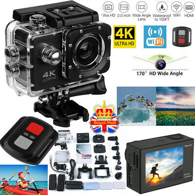 Ultra 4K Full HD 1080P Waterproof Sports Camera Wi-Fi Action Camcorder Go Pro UK