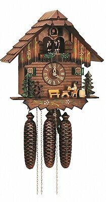 Cuckoo Clock Black Forest house with moving beer drinker a.. SC 8TMT 5403/10 NEW