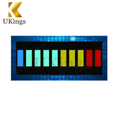 2PCS 10 Segment Led Bargraph Light Display Red Yellow Green Blue