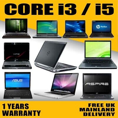 FAST CHEAP INTEL CORE i3/ i5 LAPTOP WINDOWS 10 250GB/500GB HD 4GB/8GB RAM