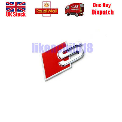 For Audi S-Line Sports Metal S Boot Badge A3 A4 S3 A6 A8 S S4 S8 RS3 RS4