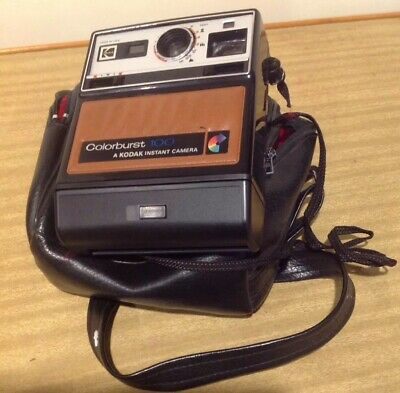 Retro Collectable Vintage Kodak Colour Burst 100 Instant Camera In Bag