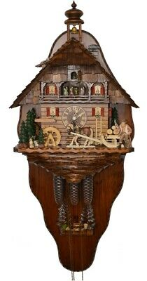 Cuckoo Clock of the year 2015 with back wall Timber haulage to.. 5.8861.01.P NEW