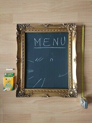 Chalk Board Menu Board Frame Golden Vintage Trendy