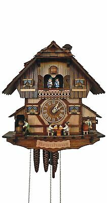 Cuckoo Clock Black Forest house with moving beer drinkers SC MT 383/9 NEW
