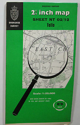 1967 Old Vintage OS Ordnance Survey Second Series 1:25000 Map Talla NT 02/12