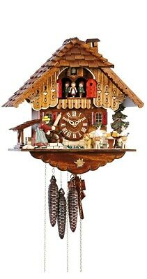 Cuckoo Clock Black Forest house with moving beer drinkers and .. SC MT 698/9 NEW