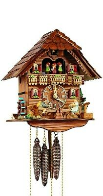 Cuckoo Clock Chalet with moving children on a see-saw SC MT 6426/9 NEW
