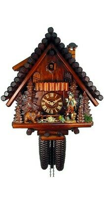 Cuckoo Clock Black Forest House, Hunter, Bear 2.0794.01.P NEW
