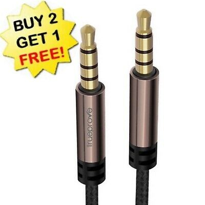 1M//3FT 3.5mm Male to Male 4-Pole TRRS Stereo Right Angle Audio Extension Cable