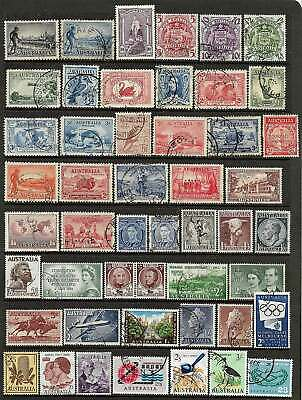 AUSTRALIA PRE-DECIMAL 49 STAMPS A VALUABLE GROUP fine used to £2 - No Reserve