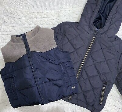 Baby boy Toddler Puffer Vest and Jacket in Navy - Size 1. As New!