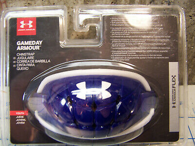 Under Armour Youth Ua Gameday Armour Chin Strap 400.Royal/White OSFA (1275531)