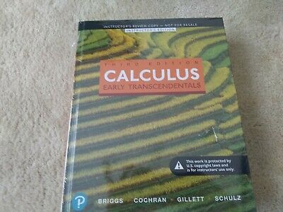 Calculus Early Transcendentals by Briggs 3rd Ed. NEW ***Instructors Edition***