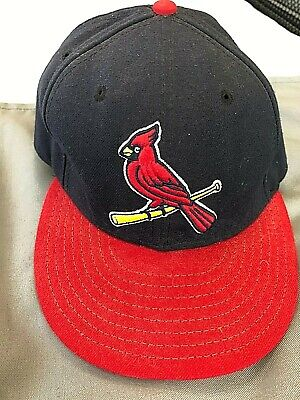 4badc36b NEW ERA 59FIFTY St Louis CARDINALS Red w/ White Embroidey Fitted Cap ...