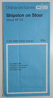 1961 old OS Ordnance Survey 1:25000 First Series Map SP 24 Shipston on Stour