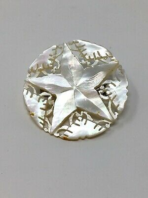 Costume Vintage Brooch Iridescent Faux Mother of Pearl Star - 1.5""