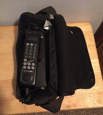 Motorola Bag Cell Phone Vintage CELLULAR Model SCN2552A Leather Case