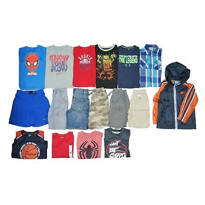 Boys Sz 4t-5t Namebrand Back To School Play Clothes Athletic 17 Piece Oufits Lot