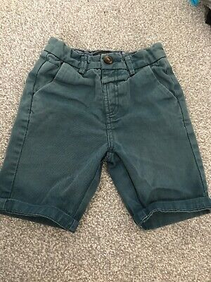 Boys River Island Teal Green Blue Faded Style Trendy Denim Shorts Size 3-4 New!
