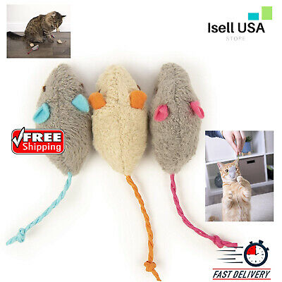 Catnip Cat Activity Toys Three Adorable Mice Spiked With Pure And Potent Catnip