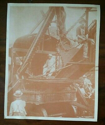 "President Theodore Roosevelt Panama Canal Sepia Tone Photo  & Facts 10"" X 8"""