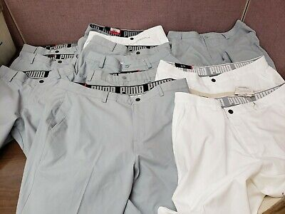 New with Flaws Lot 12 Puma Golf Men's Essential Pounce Shorts Gray White Variety