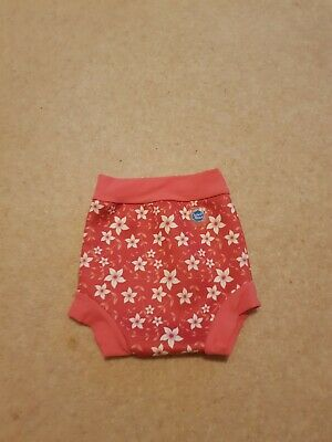 SPLASH ABOUT Happy Nappy Pink Floral...Swimming..Size Large  ( 6-12 months)