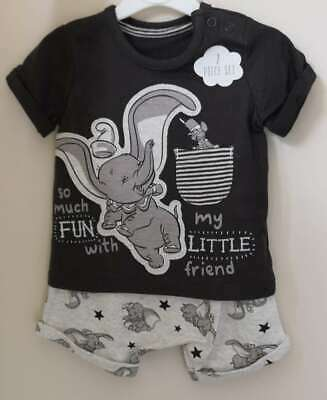 Disney Baby Boys Dumbo Top and Shorts Outfit Newborn to 18 Months Tshirt Shorts