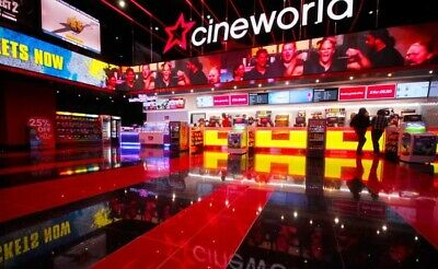 2 CINEWORLD CINEMA TICKETS FOR ANY SUNDAY ANY FILM ADULT OR CHILD UNTIL 25th AUG