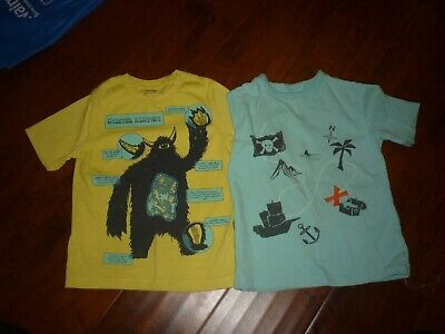 toddler boys summer clothes BABY GAP 4 lot  short sleeve t shirts monster pirate