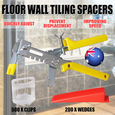Tile Leveling System clips Plier Levelling Spacer Tiling Tool Floor Wall AU