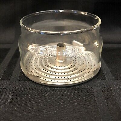Vintage Pyrex Glass Strainer Basket W/ Snap On Strainer Replacement ~ Free Ship