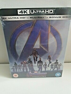 Avengers: Endgame 4K+2D Blu-Ray UK Limited Edition Exclusive Steelbook New&Seal+