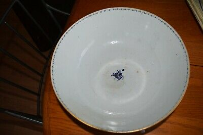 Antique Chinese Porcelain LARGE BOWL VERY OLD PURPLE / GOLD RARE