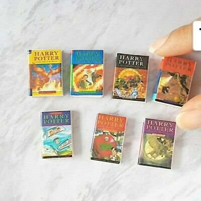 Miniature dolls house Accessories Set of 7 Harry Potter Books 1:12th scale