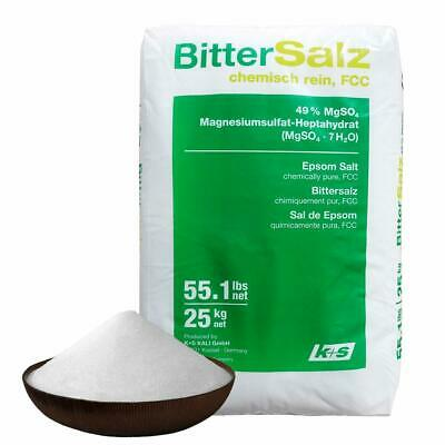 100% Natural Epsom Salts 25kg Bulk from Germany Bittersalz