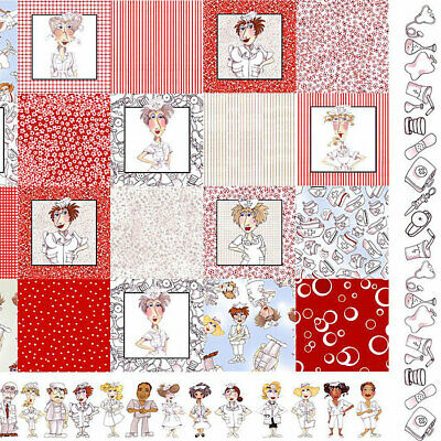 Loralie Designs * Nifty Nurses Quilt Panel * New * Free Post *