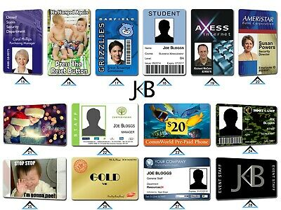 Personalised Printed Business Student Membership Pass Plastic PVC ID Cards Badge