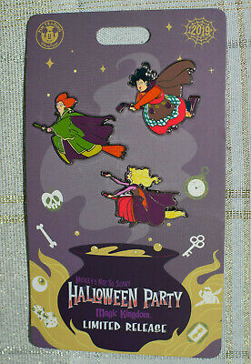 New 2019 Disney MNSSHP Halloween Party Limited Release Hocus Pocus Pins
