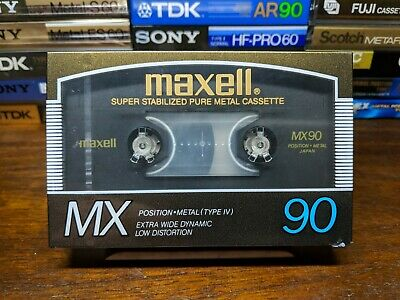Maxell MX 90 Blank Metal compact cassette tape Type IV