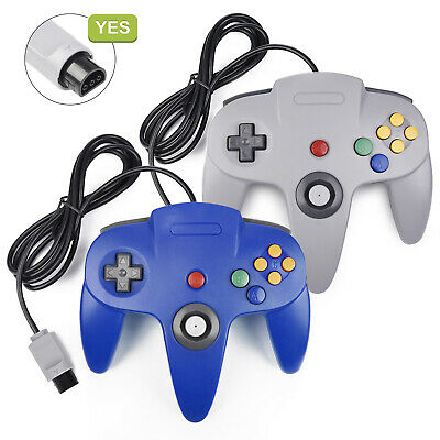 Controller Joystick Gamepad Joypad Long Wired for Classic N64 64 Console Games
