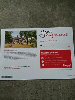 Red letter days voucher - 2 night hotel choice for two people